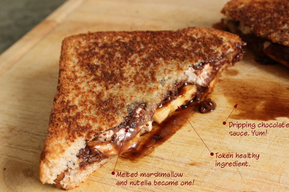 Grilled Nutella, Banana and Marshmallow Sandwich: Weekend Eats ...