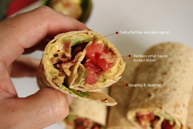 BLT Wrap with Avocado Sauce: Easy Wrap Recipe for #College Students