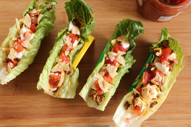 Low-Carb Lettuce Tacos: Healthy way to recycle leftover taco meat before it spoils.