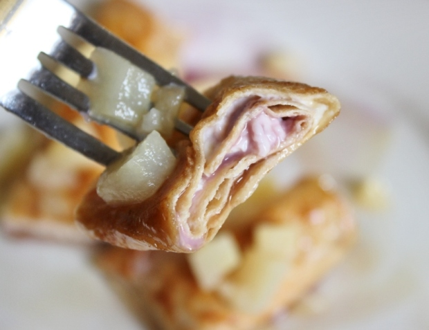 Cream Cheese and Jam Chimichangas ~ Easy #snack recipe for college and university students from College Recipe Cafe.com