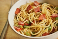 Look in the Fridge Friday: Recipe for Leftover Spaghetti