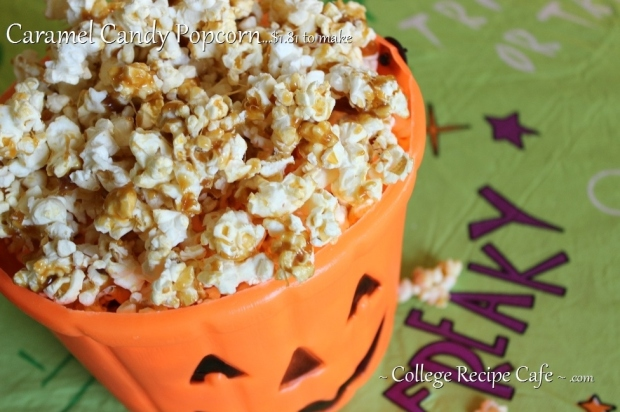 Caramel Candy Popcorn: Easy #Halloween Snack Anyone Can Make!