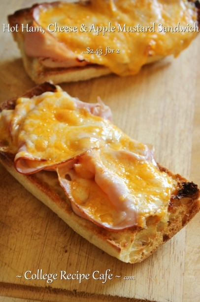 Ham, Cheese and Apple Mustard Sandwich