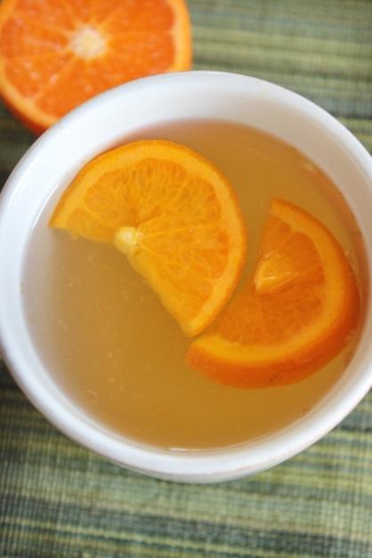 Therapeutic Mandarin Orange Ginger Tea ~ Warm Stress Reducing Tea for #College