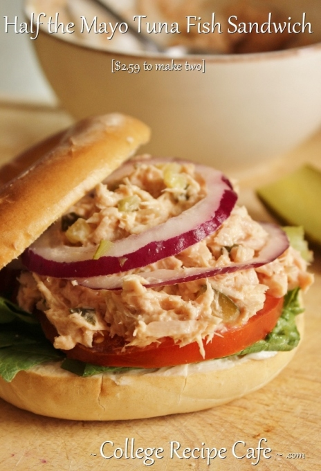 Half the Mayo #Tuna Fish Sandwich ~ College Recipe Cafe