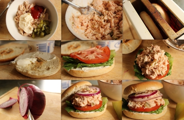 How to Make Half the Mayo Tuna Fish Sandwich from College Recipe Cafe