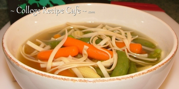 Asian-Inspired Chicken Noodle Soup ~ How to Turn Ho-Hum Canned Chicken Noodle Soup into a Satisfying Meal