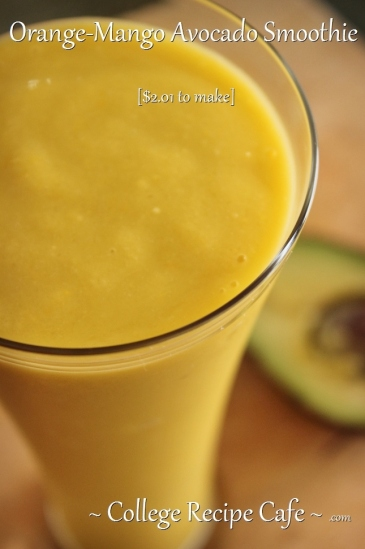 Energizing Orange-Mango and Avocado #Smoothie