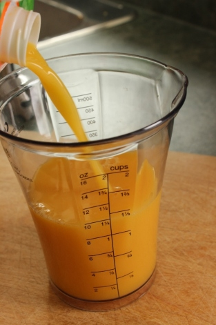 Step 1 - Orange Mango Avocado Smoothie ~ College Recipe Cafe