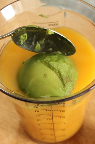 Step 3: Orange Mango Avocado Smoothie ~ College Recipe Cafe