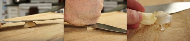How to Peel Garlic Using the Side of a Chef's Knife