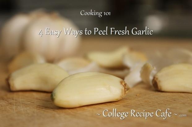 4 Easy Ways to Peel Fresh Garlic
