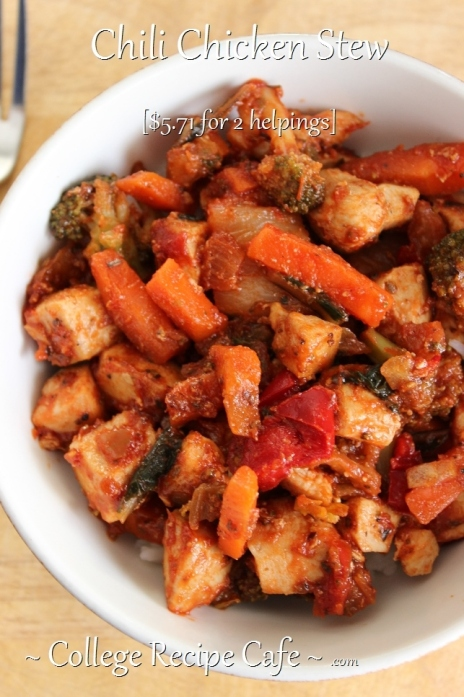 Chili Chicken Stew: Easy Dinner Recipe for Students