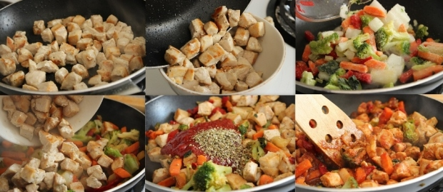 Chili Chicken Stew: Step by step pictures showing how to make