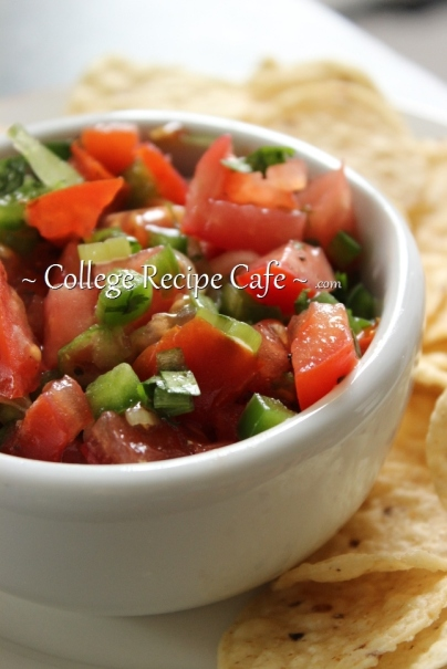 easy homemade salsa recipe for students