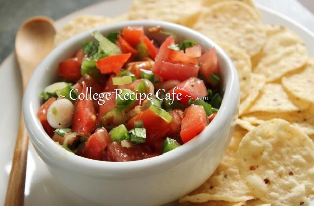Easy homemade salsa recipe for college