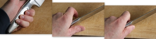 how to grip a chef's knife