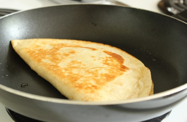 Cooking Sweet Potato Quesadilla