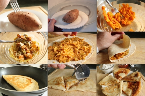 How to make Sweet Potato Quesadilla