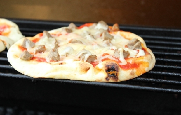 Naan Pizza on the Grill