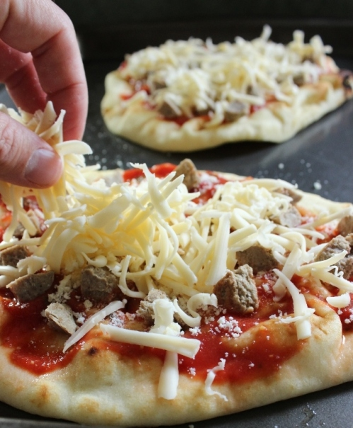 Mozzarella and Meatball Toppings!