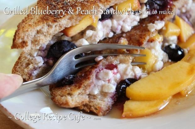 Grilled Fruit Sandwich for Breakfast or Dinner!