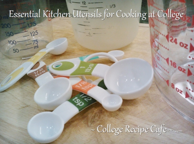 Kitchen utensils to pack for college