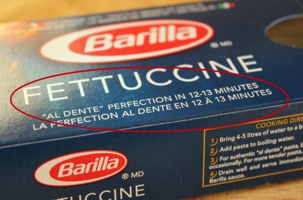 How to cook pasta al dente.