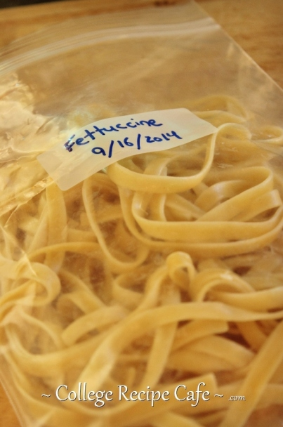 How to freeze cooked pasta noodles