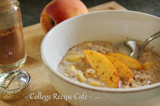 A pinch of cinnamon makes this oatmeal extra good!