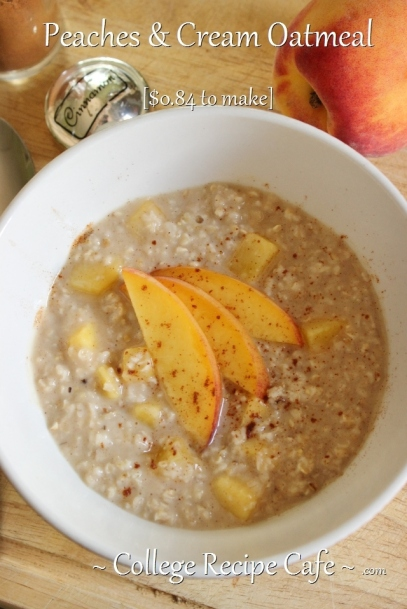 No more buying peaches and cream oatmeal packets with those artificial peaches.