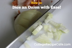 No more crying. Here's how to dice an onion with ease!