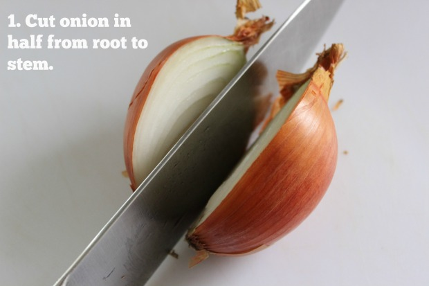 The first step to dicing an onion quickly, safely and neatly. Here's how it's done.