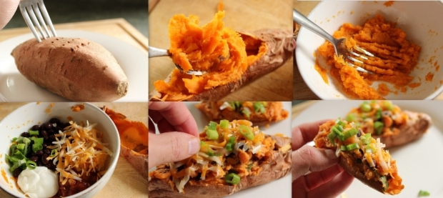 How to Make Stuffed Sweet Potato Skins
