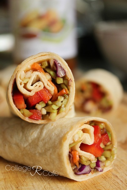 Healthy vegetable spring roll you make with broccoli coleslaw.