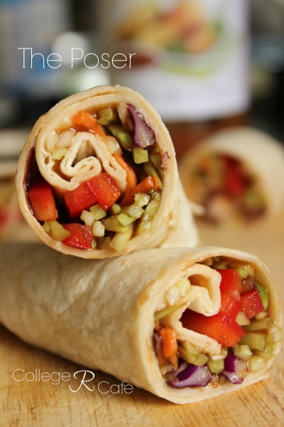 These easy to make vegetable wraps