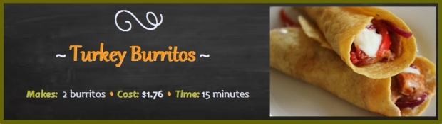 Turkey Burritos: 15 minutes to make