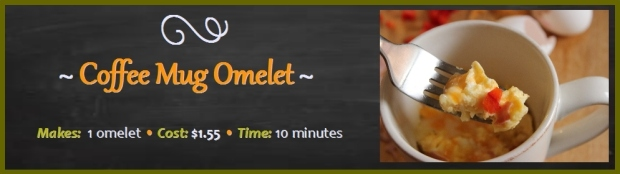 Coffee Mug Ham and Cheese Omelet - 10 Minutes to Make
