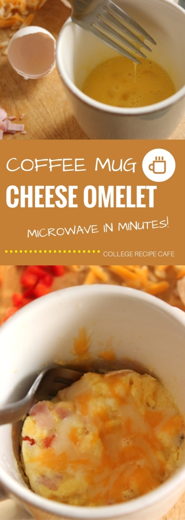 Coffee Mug Ham and Cheese Omelet