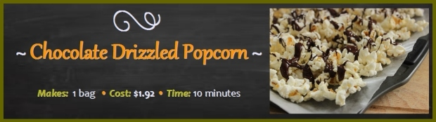 Chocolate Drizzled Popcorn: 10 Minutes to Make
