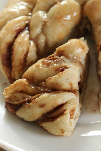 A slice of this warm Cinnamon Bread is the perfect dessert after a day outdoors!