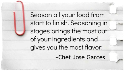 Cooking tip from Chef Jose Garces