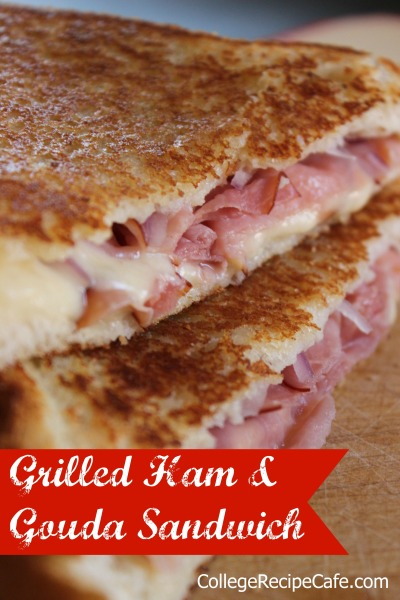 Grilled Ham and Gouda Sandwich - Simple low cost way to turn a grilled cheese into a gourmet sandwich!