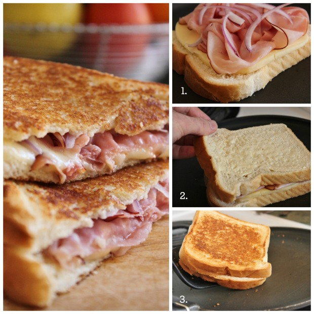 How to Make College Recipe Cafe's Grilled Ham and Gouda Sandwich