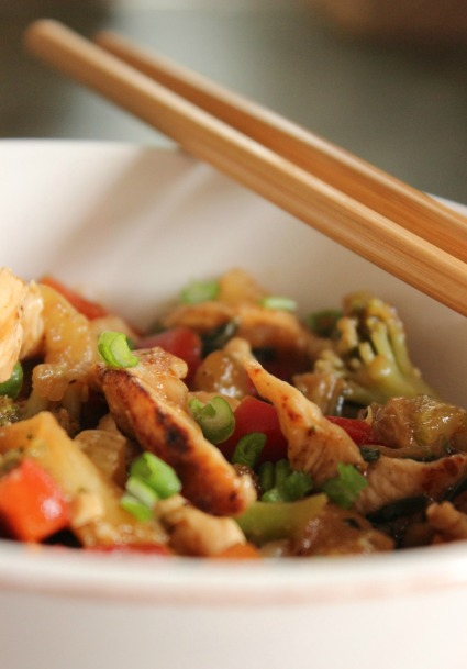 Grab your chopsticks and dig into this healthy and delicious Spring Forward Stir-Fry ~ College Recipe Cafe