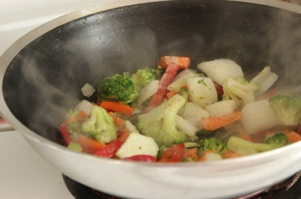 Plenty of healthy vegetables in College Recipe Cafe's Spring Forward Stir-Fry