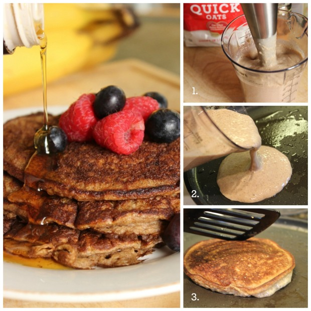 Oatmeal Banana Pancakes (Post Workout Recovery Meal): How to make step-by-step