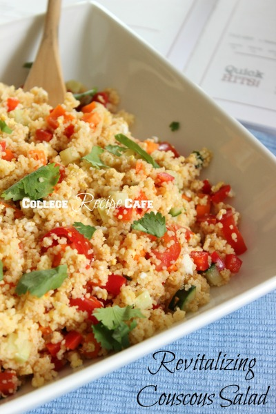 Couscous Salad. Grown-up salad for summer!