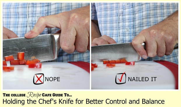 How to Hold the Chef's Knife Safely #cooking101