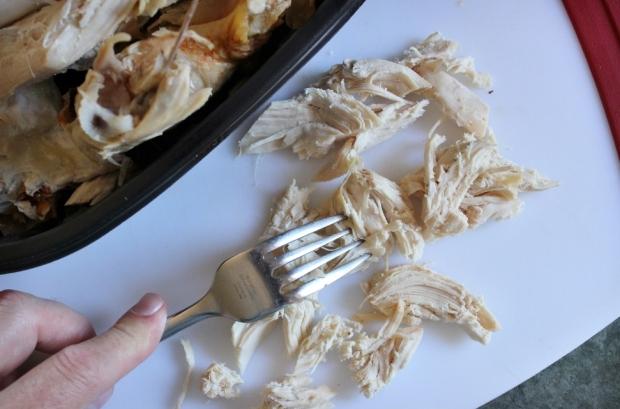 Shredded Chicken for Buffalo Chicken Salad